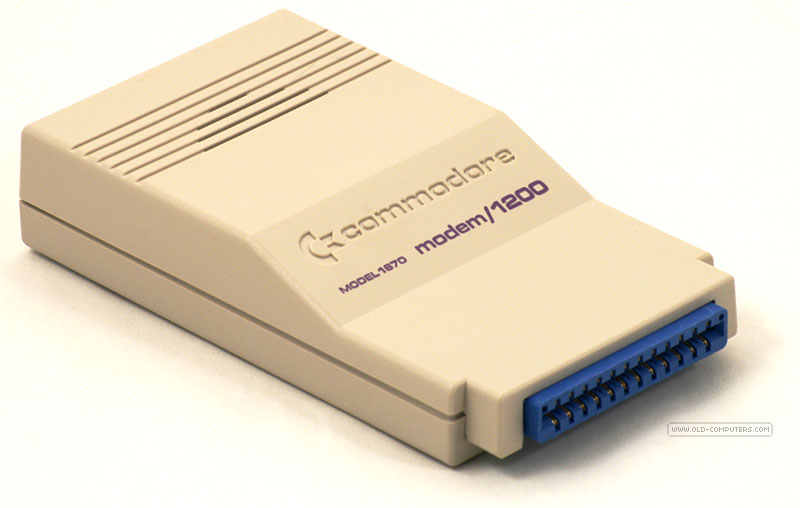 Commodore produced and sold the following modems: